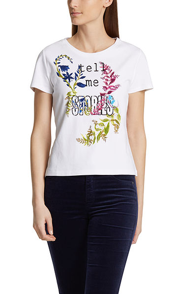 Embroidered T-shirt in cotton