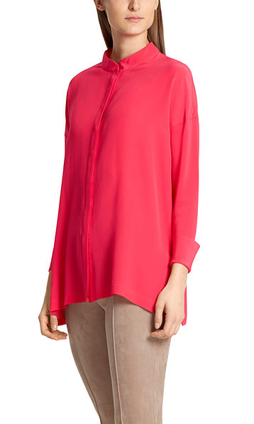 Extra-wide silk blouse