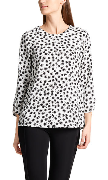 Blouse with heart dots