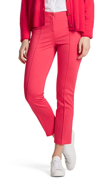 Pantalon raccourci en viscose stretch