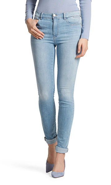 Slim fit jeans with high waistband