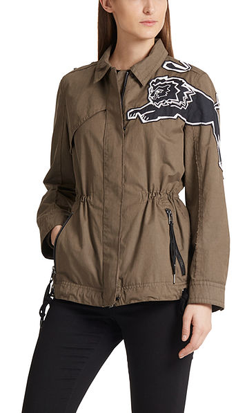 Outdoor jacket with lions
