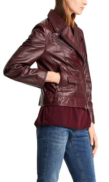 Jacket in lambskin nappa leather