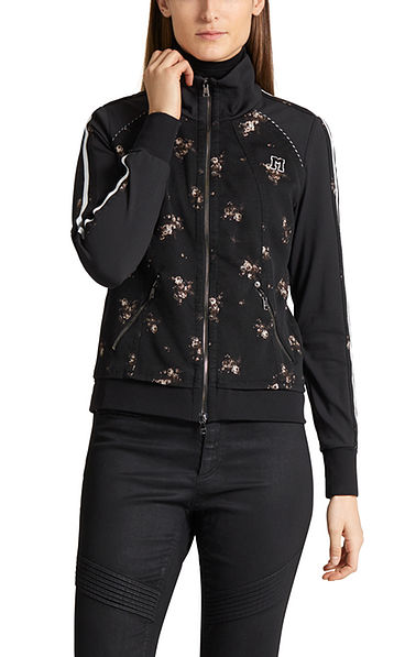 Jacket with gold jacquard