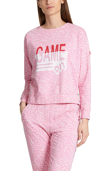 Sweatshirt in stretch cotton