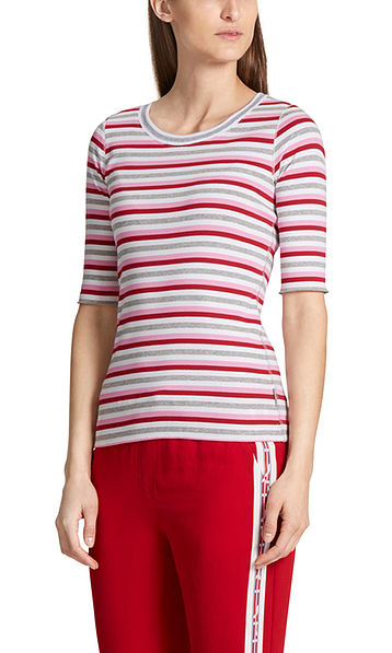 Ribbed top with stripes