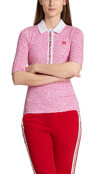 Polo shirt with leopard pattern