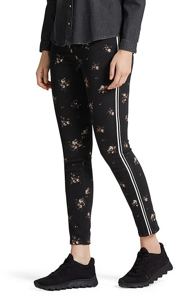 Jeans with gold jacquard