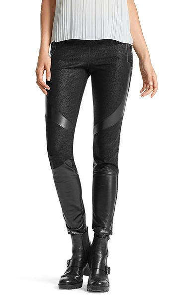 Leggings with glittery effect