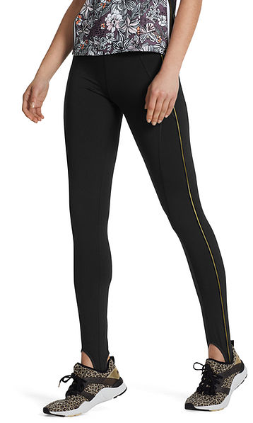 Fitwear leggings with gold stripes