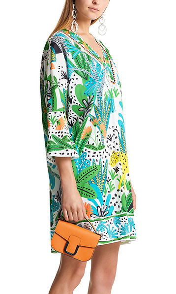 Tunic dress with jungle print