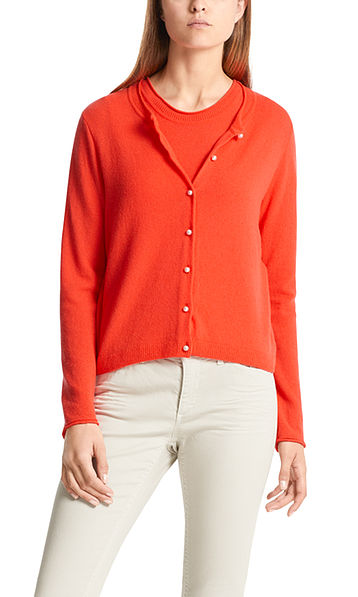 Knitted jacket with cashmere