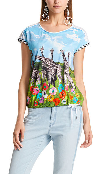 Cotton top with print mix