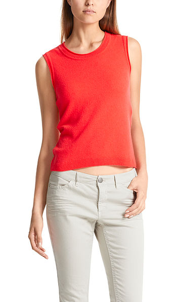 Knitted top with cashmere