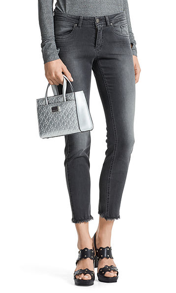Extra smalle jeans met franjes