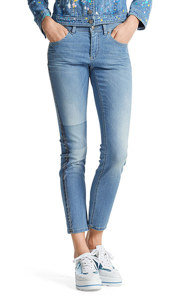 Extra slim jeans with glossy stripes