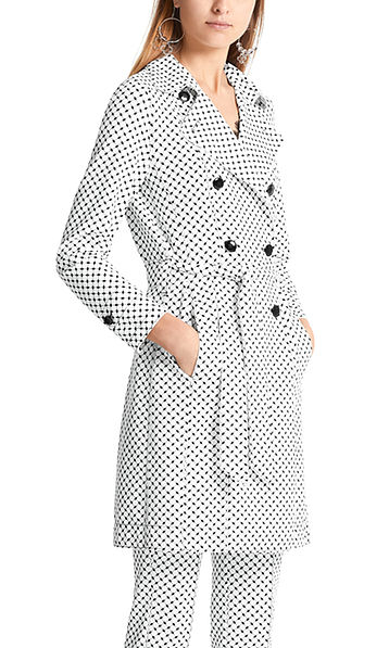 Manteau à mini motif graphique