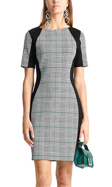 Jacquard-Kleid aus Feinstrick