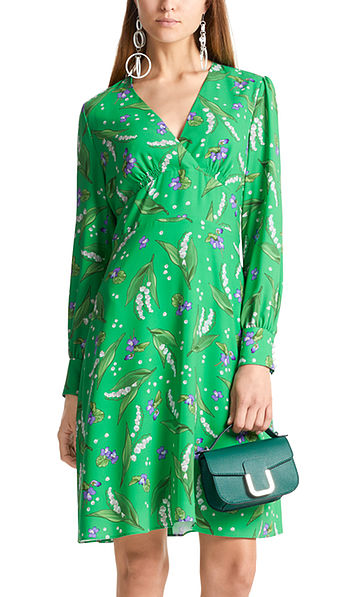 Dress with lily-of-the-valley print