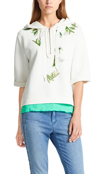 Sweatshirt with lilies of the valley