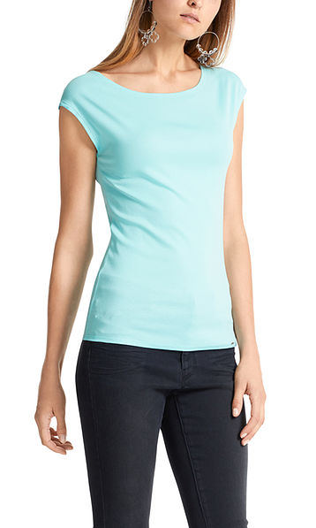 Top in stretch cotton