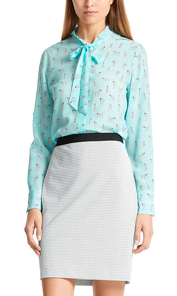 Silk blouse with Dalmatians