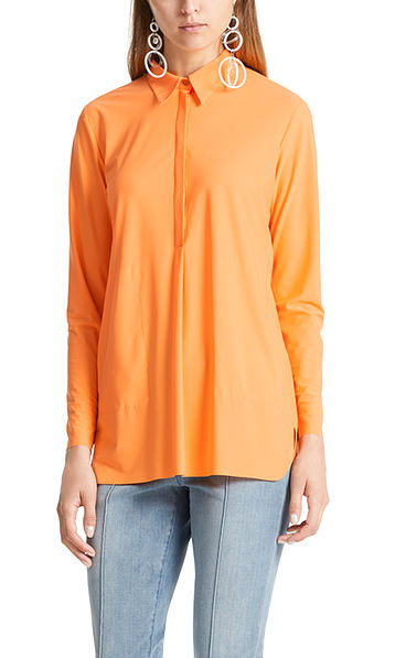 Stretch shirt-style blouse