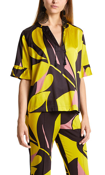 Printed blouse-style top in satin