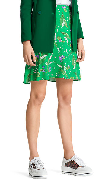 Skirt with lilies of the valley