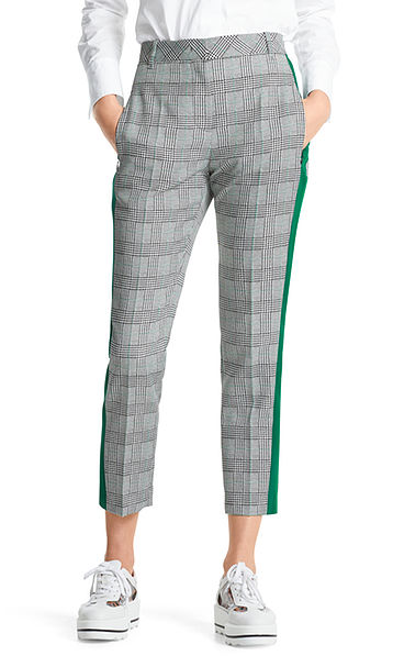 Pants with glen plaid