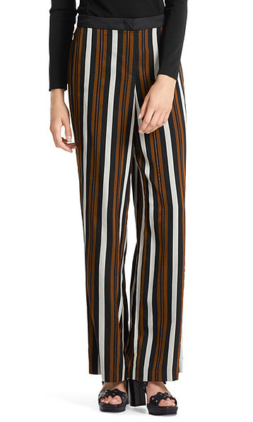 Pants with lurex stripes