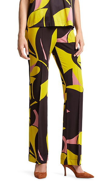 Jersey pants with art print
