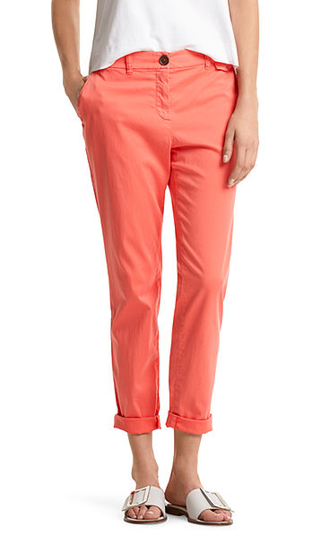 Chino pants with lace detailing