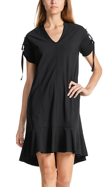Jersey dress with click clasps