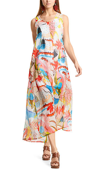 Kleid mit Papaya-Print