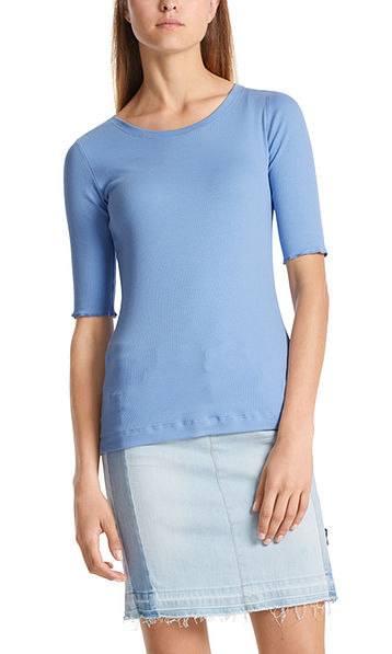 Basic ribbed top in cotton