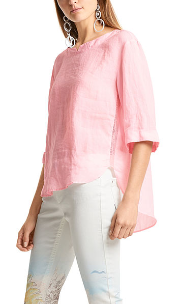 Loose blouse in ramie