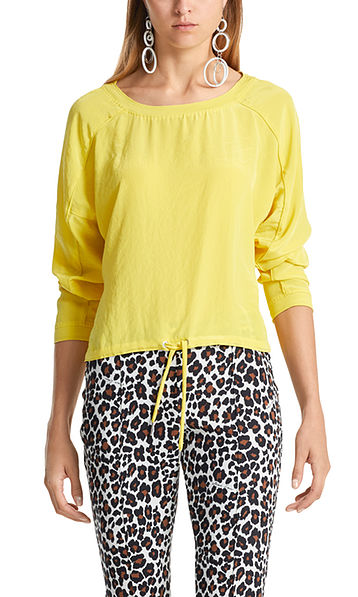 Blouse-style top in microfibre