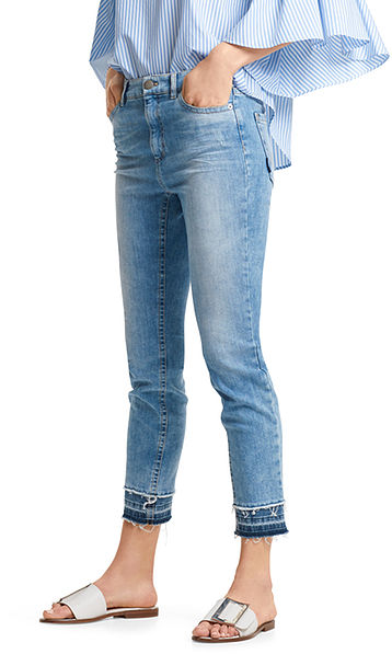 Jeans with fringe decoration
