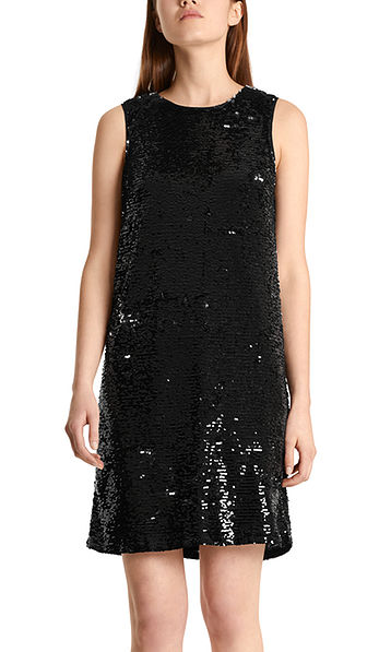 Sheath dress with reversible sequins