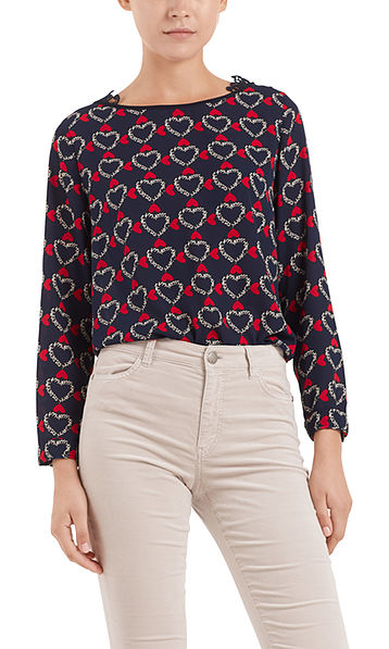 Blouse-shirt with lace