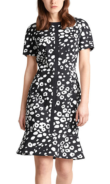 Dress with abstract leopard print