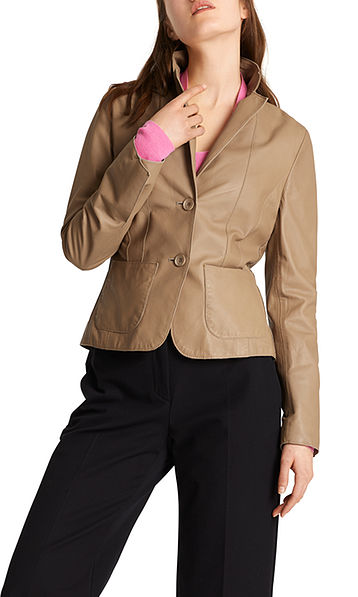 Blazer in nappa leather