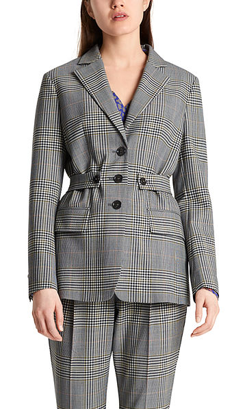 Blazer with checked pattern