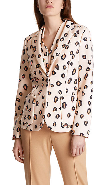 Blazer with leopard print