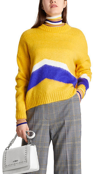 Mohair sweater with intarsia pattern