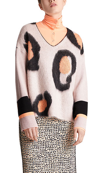 Jacquard-Pullover mit Mohair