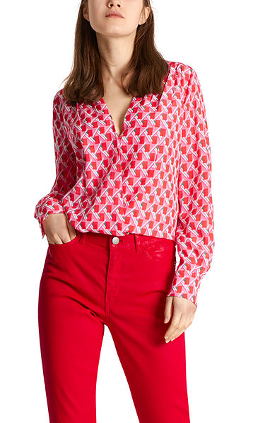 Blouse with silk