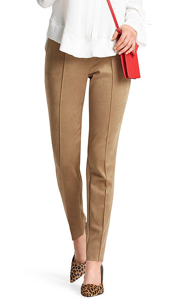 Pants in faux suede
