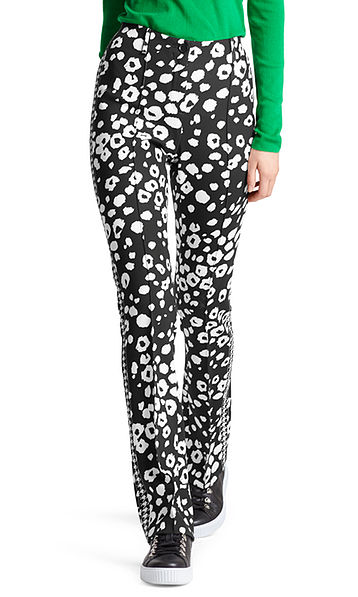 Pantalon à imprimé léopard abstrait